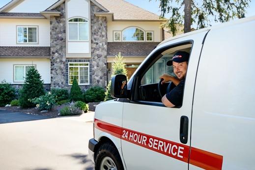 Service Team of Professionals Technicians STOP Service Van