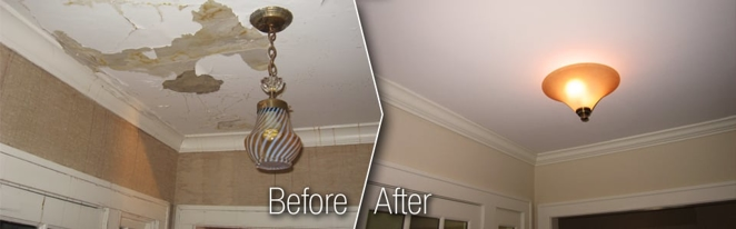 Before/After Ceiling Repair