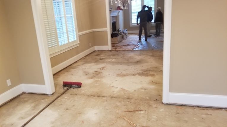 Wood floor and sub floor removal after flood