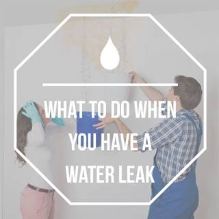 What to do with a water leak
