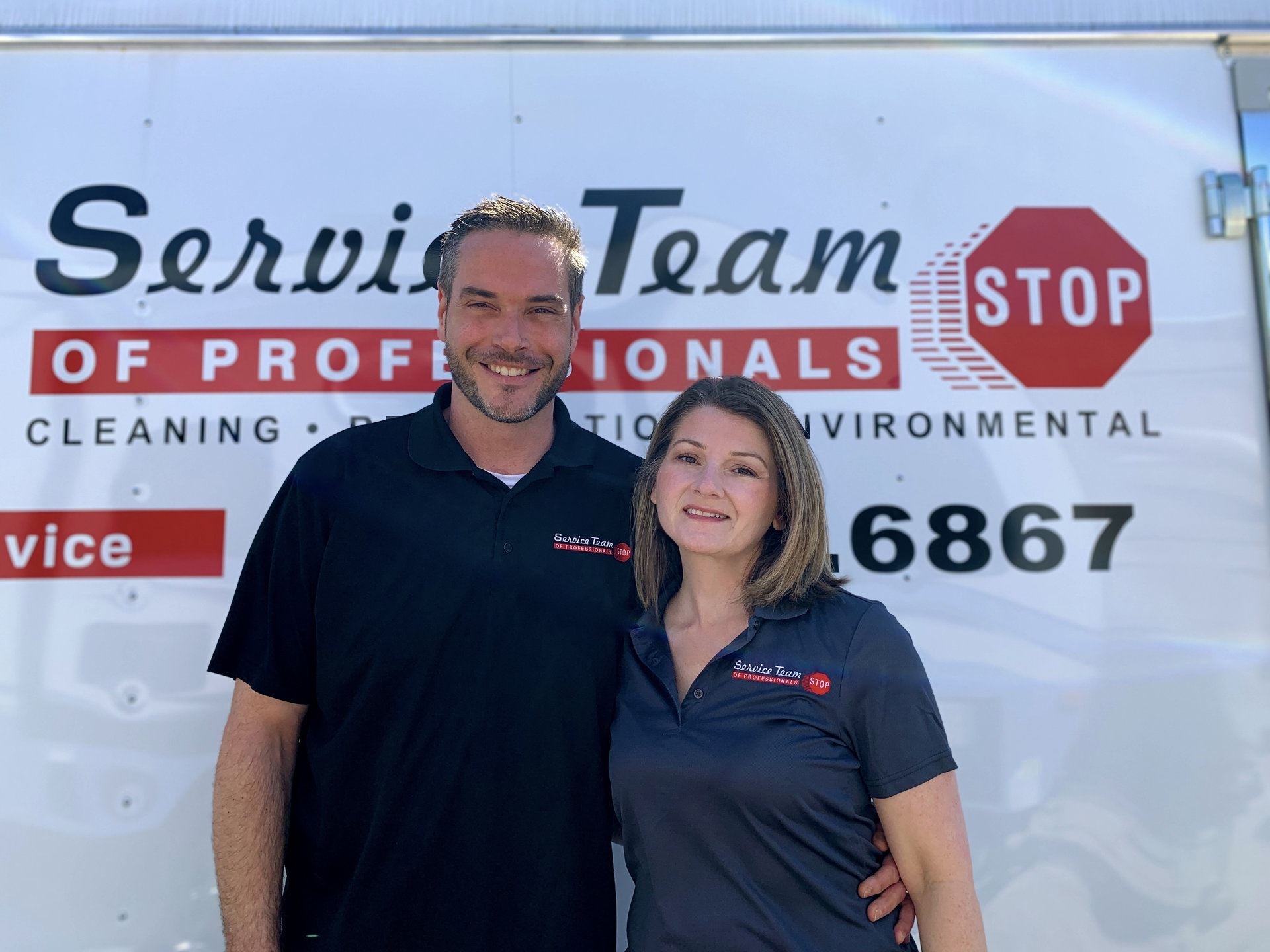 Jason and Danielle Field, the owners and operators of STOP Restoration Louisville